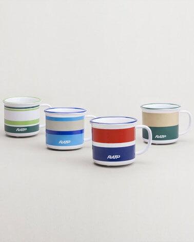 Collection mini mug livrée bus RATP - Vert et beige céramique