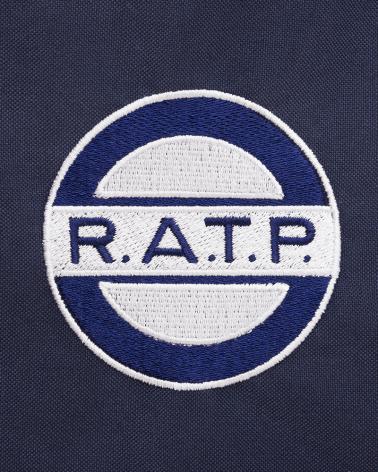 Zoom logo sac à dos bleu logo RATP 1960 polyestere
