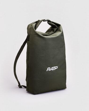Sac à dos kaki logo RATP 1976 polyestere tissu imperméable
