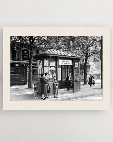 Photo voyageurs RATP, arrêt de bus Les Gobelins