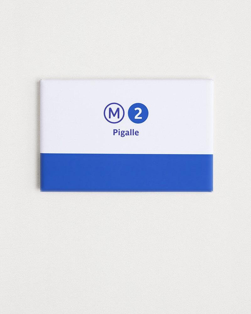 Magnet ligne 2 RATP origine france