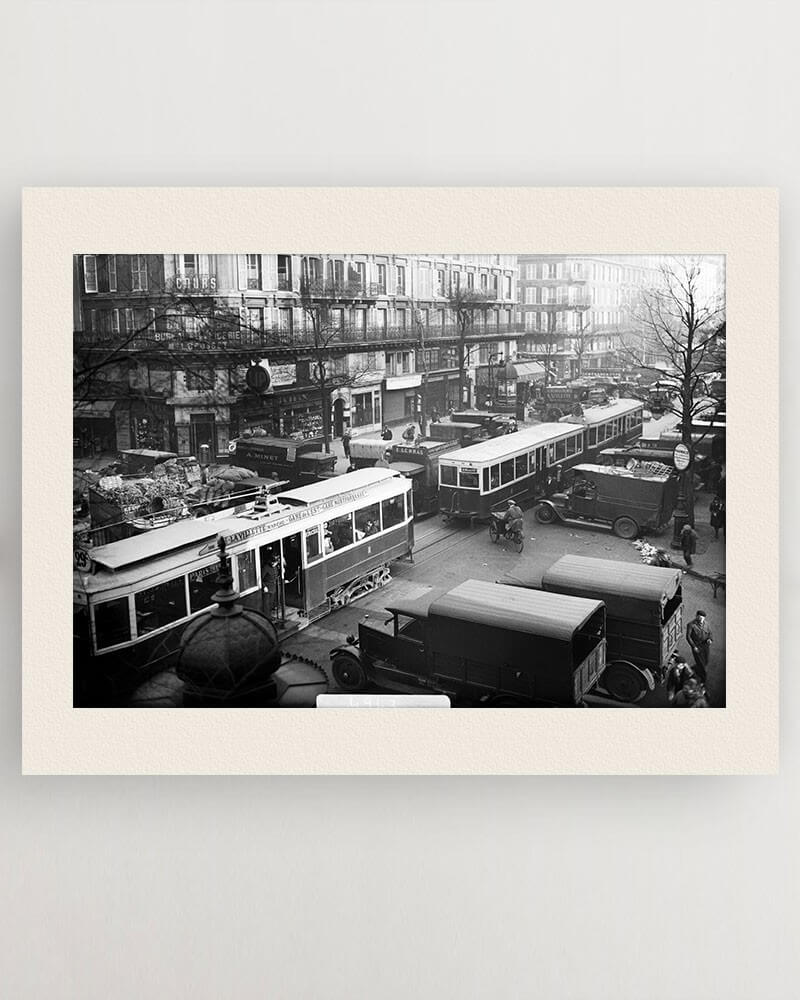 Photo tramways circulant RATP - quartier des Halles