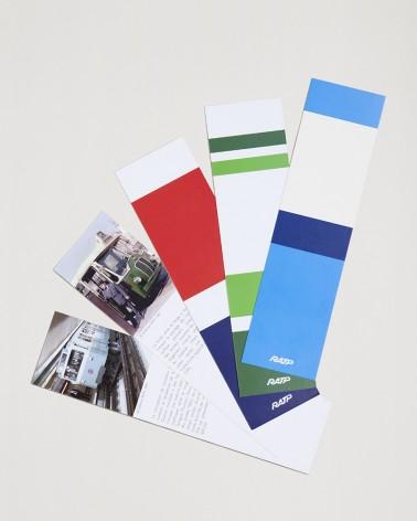 Intérieur set de 5 marque-pages livrées historiques papier RATP
