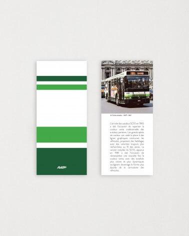 Brochure historique mini mug livrée bus RATP vert clair céramique