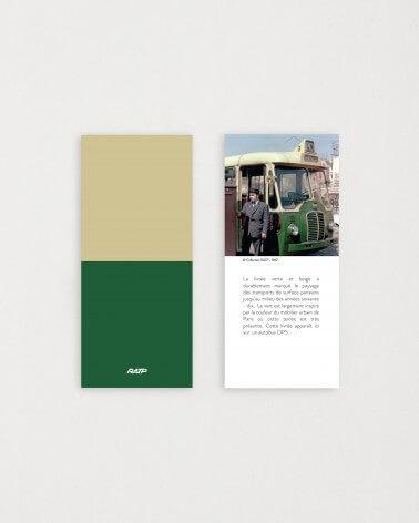 Brochure historique mini mug livrée bus RATP - Vert et beige céramique