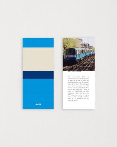 Brochure historique mini mug livrée métro RATP - Bleu roi céramique