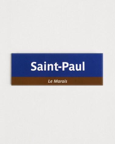 Magnet Saint-Paul RATP origine France
