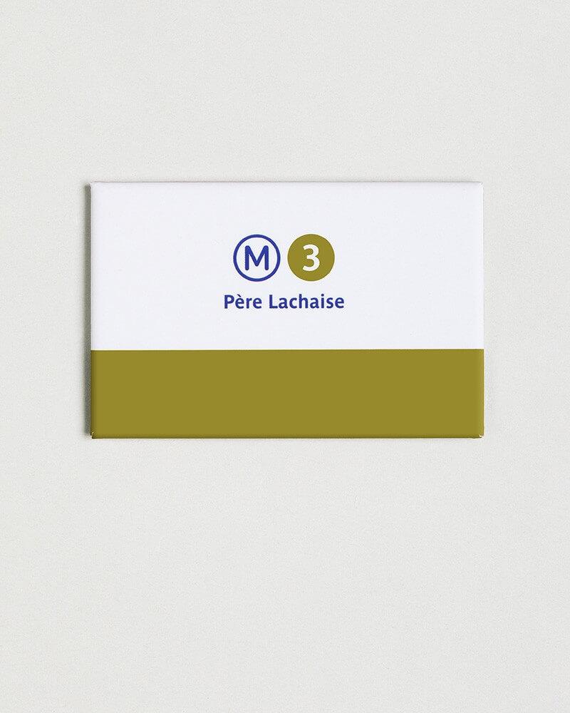 Magnet ligne 3 RATP origine France