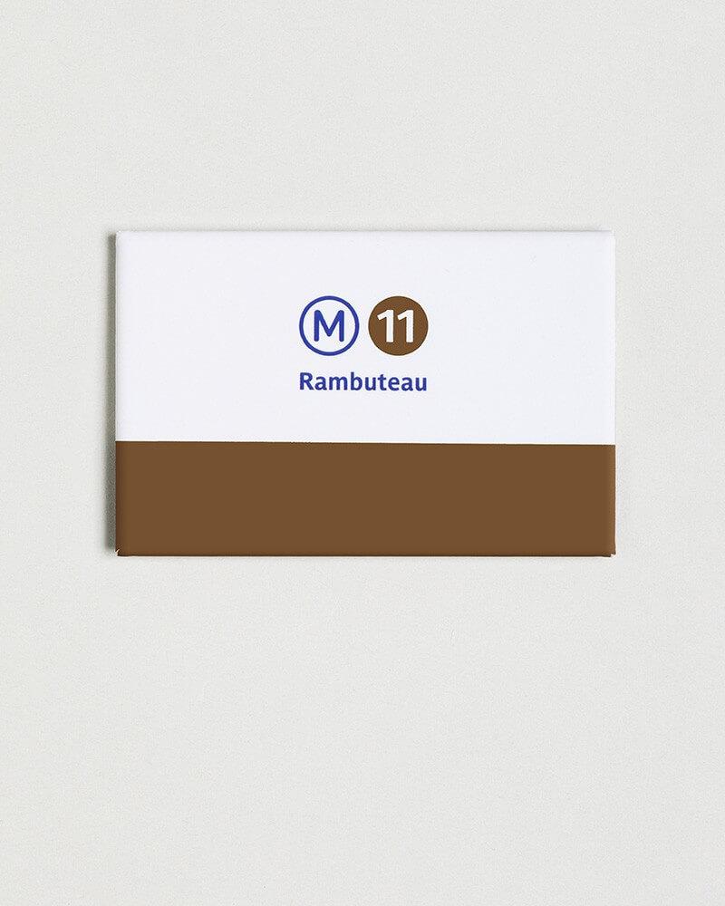 Magnet ligne 11 RATP origine France