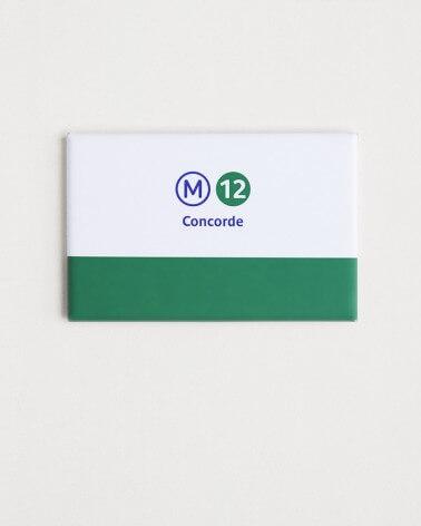 Magnet ligne 12 RATP origine france
