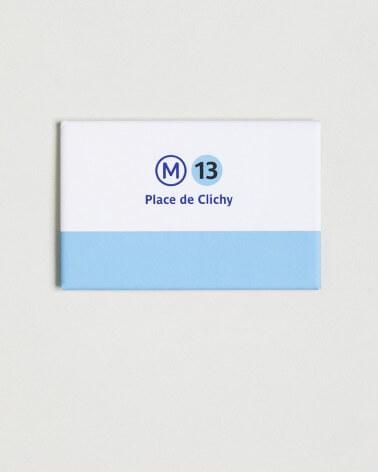 Magnet ligne 13 RATP origine France