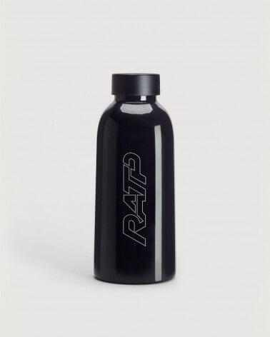Gourde noire isotherme logo RATP 1976 Acier inoxydable