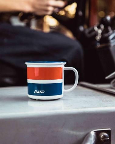 Mini mug livrée historique RER RATP rouge et bleu - RATP la ligne - 150 ml - céramique - photo zoom