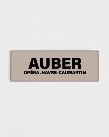 Magnet station Auber - Face recto