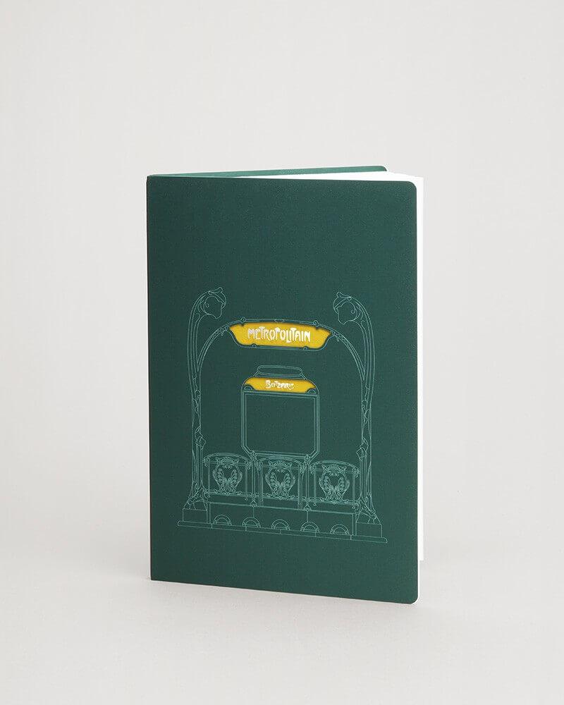Carnet vert entrée Guimard RATP A5 80 pages
