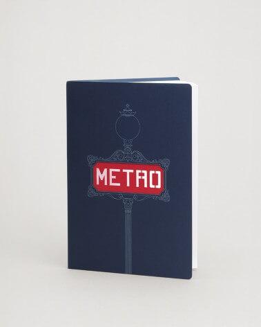 Carnet bleu mât Val d'Osne RATP A5 80 pages