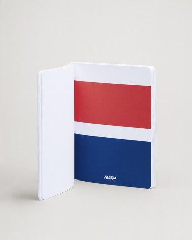 Notebook livrées historiques intercalaire bleu et rouge RATP