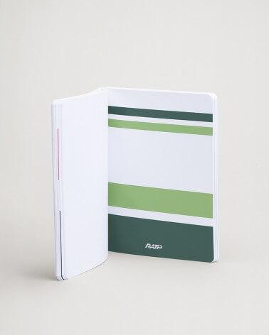 Notebook livrées historiques intercalaire vert clair RATP