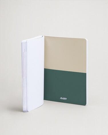 Notebook livrées historiques intercalaire vert et beige RATP