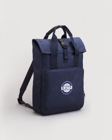 Sac à dos bleu logo RATP 1960 polyestere