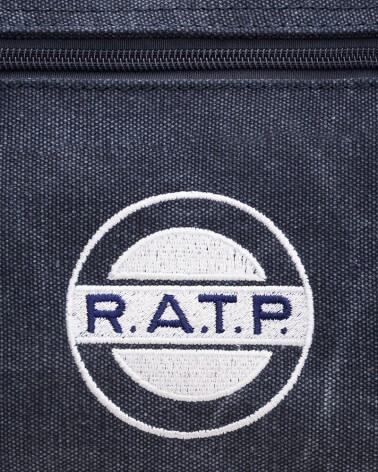 Zoom logo sac weekend logo RATP 1960 coton canvas lavé
