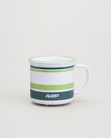 Mini mug livrée bus RATP vert clair céramique