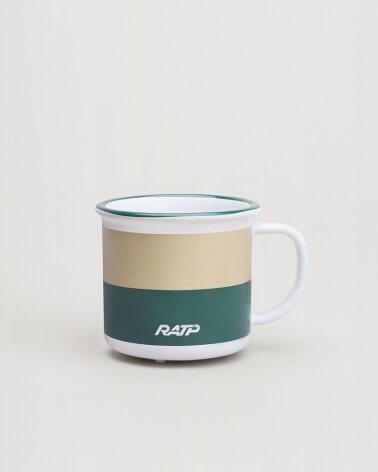 Mini mug livrée bus RATP - Vert et beige céramique