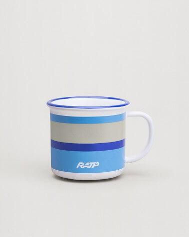 Mini mug livrée métro RATP - Bleu roi céramique