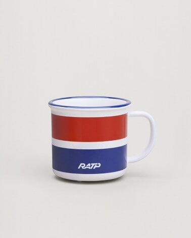 Mini mug livrée RER RATP - Rouge et bleu céramique